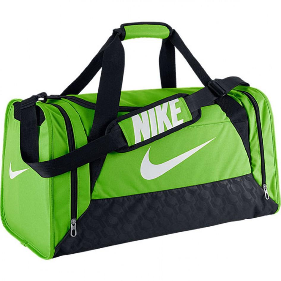 Bolsa BRASILIA 6 DUFFEL MEDIUMACTION GREEN BLACK (WHITE) Nike ... ac5ba03efba40