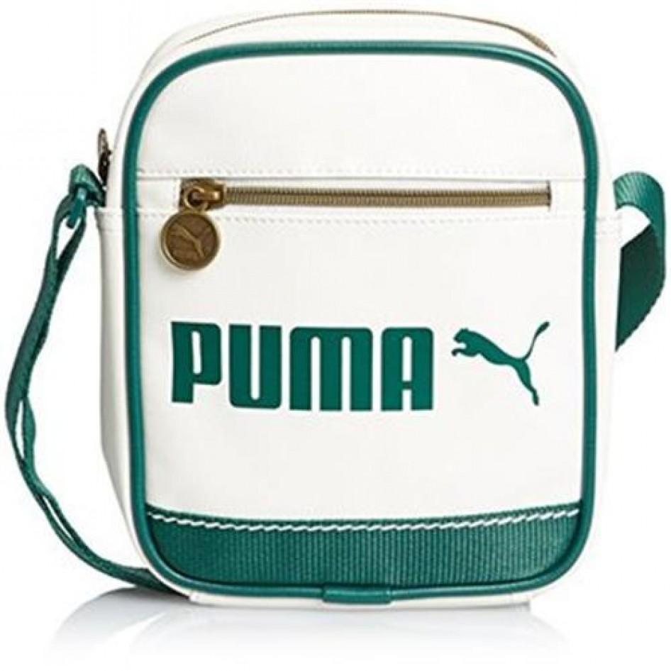 5097eecdf8 Bolsa de hombro Campus Portable whisperwhite posy green Puma Tiempo ...