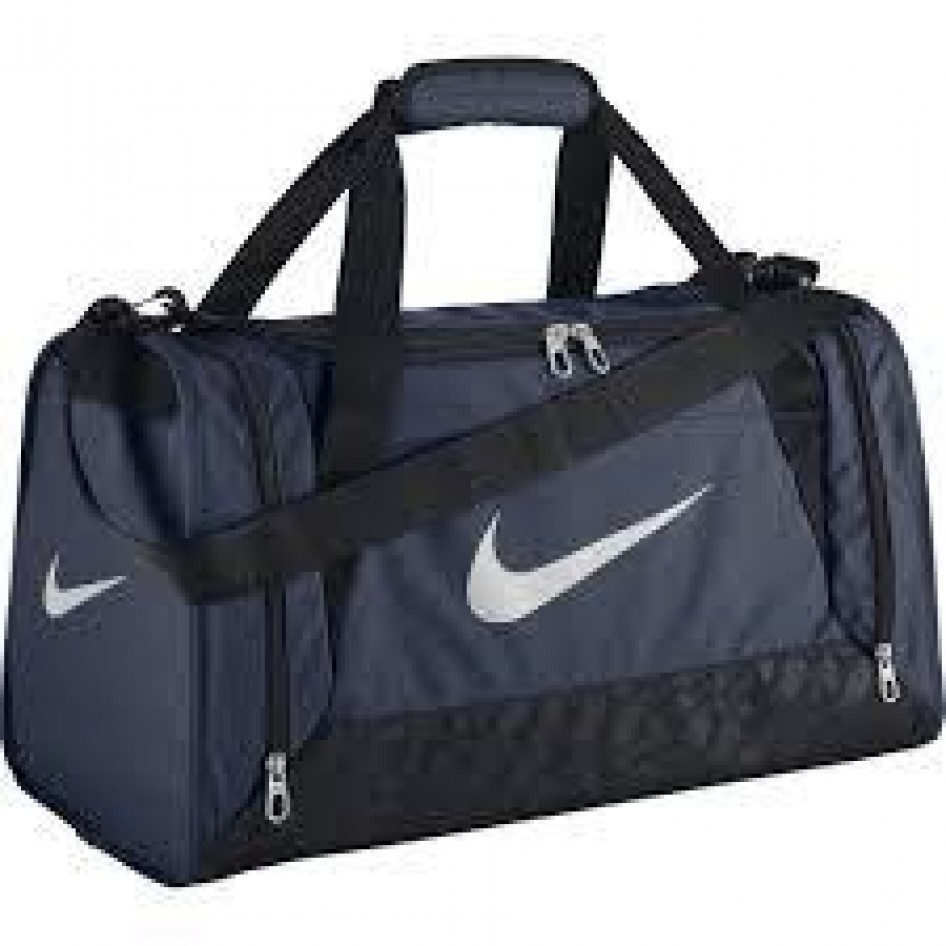 Bolsa BRASILIA 6 SMALL DUFFELMidnight Navy Black (White) Nike ... 021f696302940