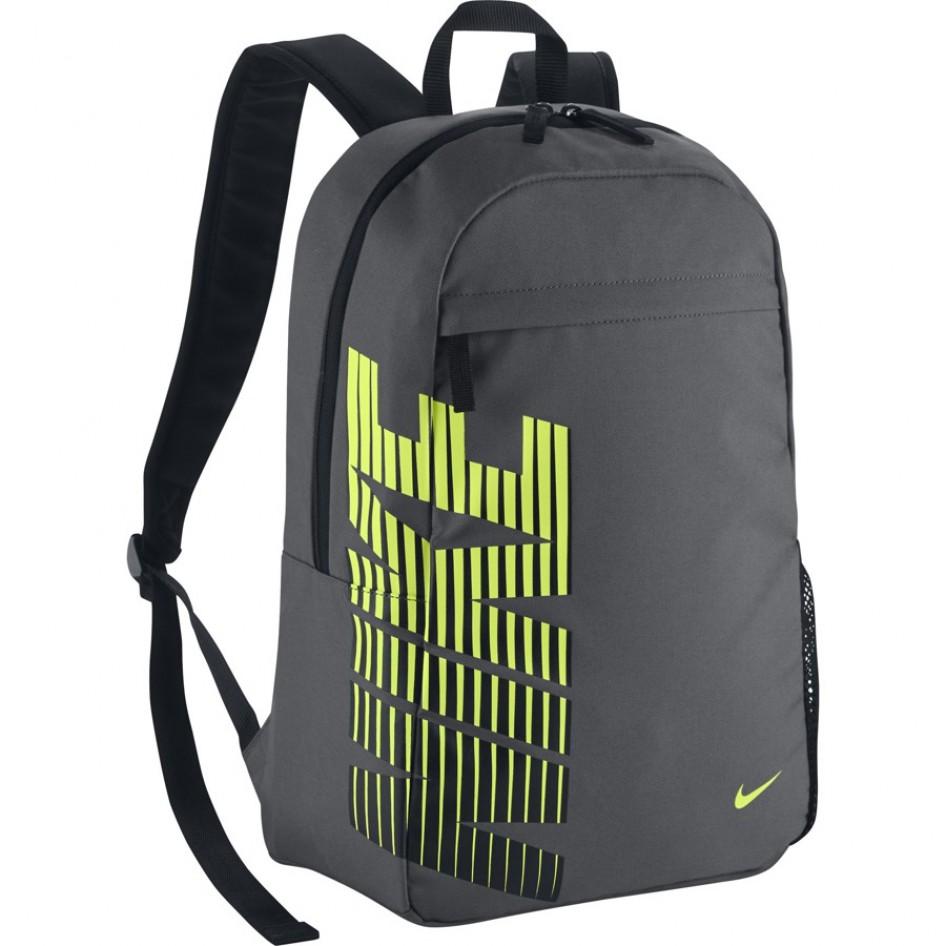 Mochila NIKE CLASSIC SANDDARK GREY BLACK (VOLT) Nike Fitness  5c9cdfe663f