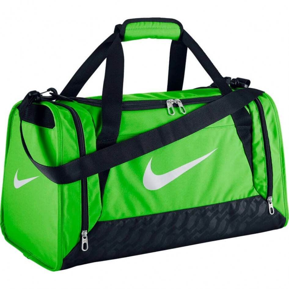 Bolsa BRASILIA 6 DUFFEL SMALLACTION GREEN BLACK (WHITE) Nike Fitness ... 93f32f911a1c9